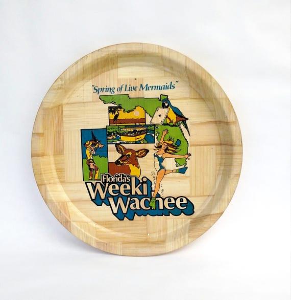 Vintage 1970's Weeki Wachee Florida Souvenir Tray