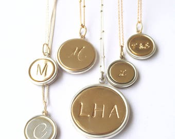 Personalized Bridesmaid Gift Ideas/ Initial Necklaces by Bare and Me Weddings/ Bridesmaid Initial Necklaces/ Wedding Party Gift Ideas/ Gifts
