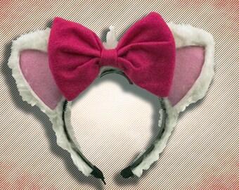 Girlie Cat Ear Headband w/ Bow
