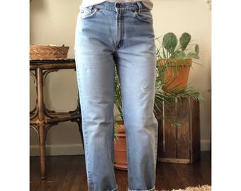 28 Waist | Orange Tab Levi's 550 High Waist Mom Jeans