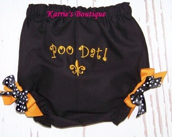 Saints Diaper Cover / Poo Dat / New Orleans Saints / Bloomers / NFL / Football / Game Day / Newborn / Baby / Boy / Girl / Toddler / Boutique