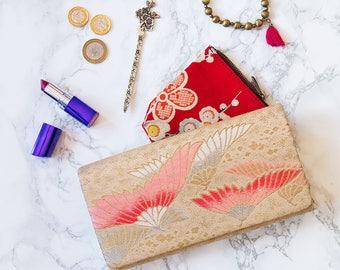 Blush Envelope Clutch, Pink Foldover Clutch, Gold Wedding Clutch, Vintage Womens Wallet, Vintage Evening Bag, Evening Bags For Wedding Bags