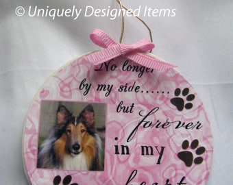 Pet memorial Christmas ornament--Rainbow Bridge pet memorial ornament