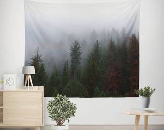 bedroom tapestry. Forest Wall Tapestry  Pine Trees Tapestries Fog and Tree Photography Misty tapestry Etsy