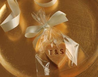 Personalised Scottish Tablet Heart Wedding Favour x10
