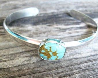 Genuine Turquoise Bracelet,  Kingman Turquoise Bracelet,Sterling Silver Bracelet, Girls Turquoise Bracelet, Genuine Turquoise Bracelet