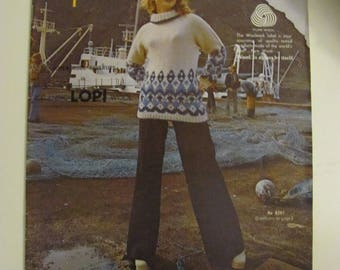 Vintage Knitting Book Reynolds Super Wool Coverups in Icelandic Lopi Wool 1976