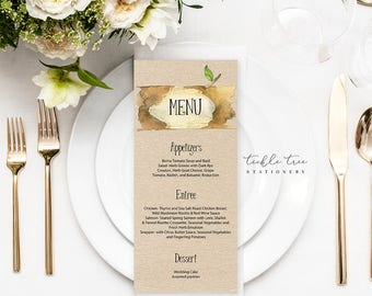 Menu Cards - Woodlands Camp (Style 13569)