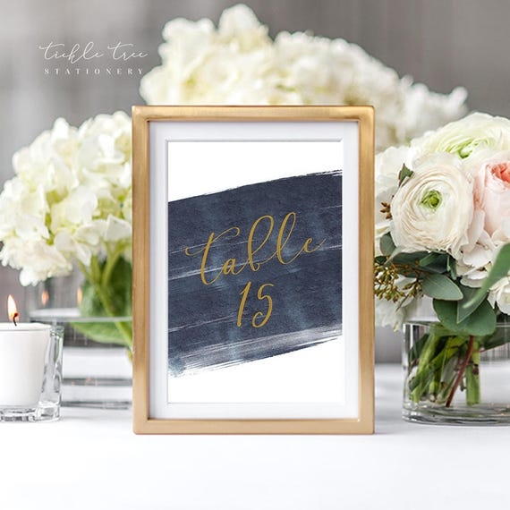 Table Numbers - A Modern Splash (Style 13762)