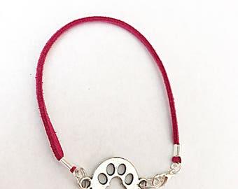 Paw Print Bracelet, Pet Memorial Bracelet, Paw Print Jewelry, Pet Memorial Jewelry, Pet Loss Gift, Cat Lover Gift, Dog Lover Gift