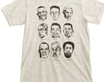 seattle SUPERSONICS legends HEATHER grey t-shirt SHAWN kemp Payton and more sizes Small- Xxl