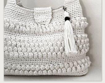 Crochet Purse with Tassel Pattern - Easy Crochet Bag - Crochet Handbag - Crochet Tote - CROCHET PATTERN- Crochet Patterns by Deborah O'Leary