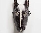 New Year black horse mask