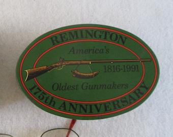 Advertising Tin, Vintage 175 Year Anniversary Remington 1816-1991 Green  Re Usable Gift Box Decorative Storage Traditional Decor