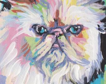 "Himalayan cat portrait art print pop art bright colorful 8.5x11"" fun kitty"
