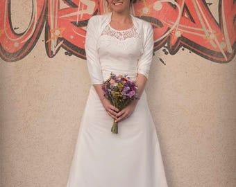 Wedding Shawl, Wedding Ivory Bolero, Wedding Cover Up, Bridal Cover Up, Ivory Bolero, Bridal Shawl, Bridal cover up, Modest Wedding Shawl