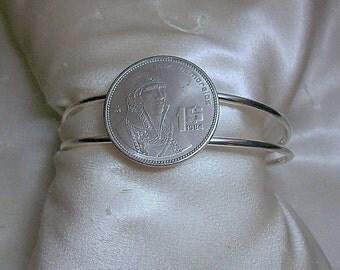 Mexico  Coin Cuff Bracelet 1984