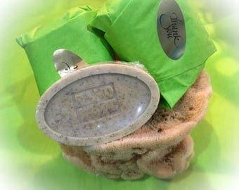 LEMONGRASS SAGE detergent free Shea Glycerin Soap