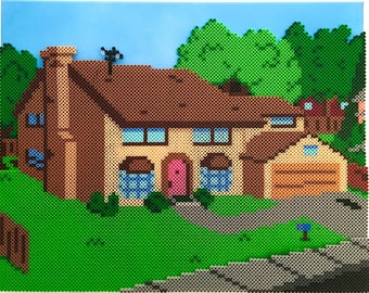 The Simpsons Home Perler Bead Pixel Pop Art