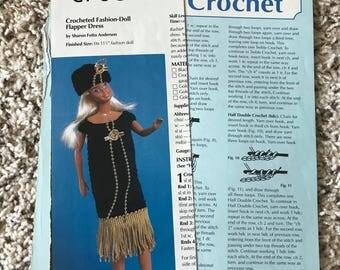 Crochet Flapper Dress for Barbie Pattern
