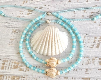 beach jewelry, friendship bracelet, sea turtle anklet