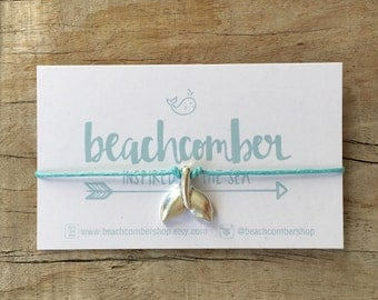wish bracelet or anklet, whale tail bracelet, friendship bracelet, party favor, bridesmaid gift, beach jewelry