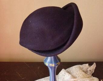 Black Borsalino Antica Casa Hat, Ladys Maxim Kobe Wool Felt Hat, Womens Designer Hat from Italy