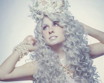 Mermaid Crown - Shell Crown - Festival Crown - Bridal Crown - Bridal Headpiece - Mermaid Costume.
