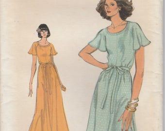 Flutter Sleeve Dress Pattern Vogue 9430 Size 10 Uncut
