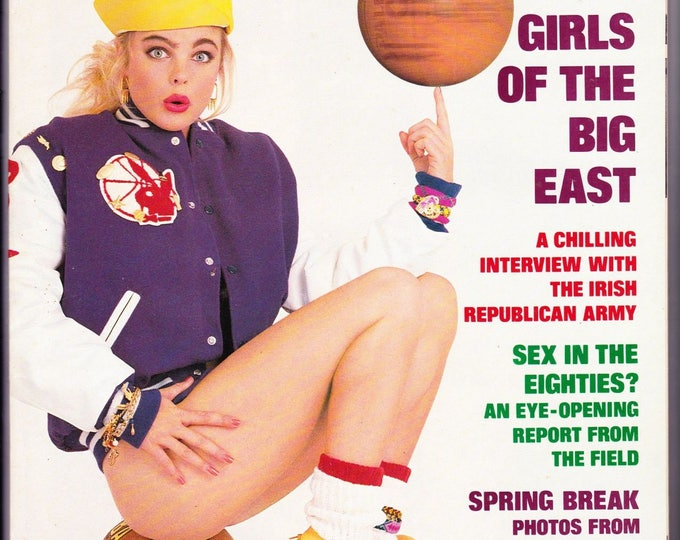 Vintage Playboy Magazine, April 1989, with Erika Eleniak, The I.R.A. Interview, Hockey's Mario Lemieux, The Mailman Cometh