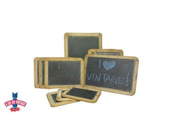 Antique Chalkboards, 5 Vintage Primitive School Teacher Slate Blackboards