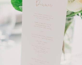 Elegant Wedding Menu Etsy