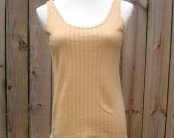 ORGANIC - MIRROR TANK 02 eco friendly tank top natural herbal dye yoga hiking shirt  handmade xs sm md ready to ship