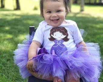 purple princess tutu, princess tutu, princess sofia tutu, sofia inspired tutu, princess halloween costume, sofia birthday, purple tutu