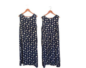 Vintage Plus Size Maxi Dress Plus Size Floral Dress 3X Plus Size Dress 3X Plus Size Clothing Plus Size 90s Plus Size Fashion Long Dress Sun