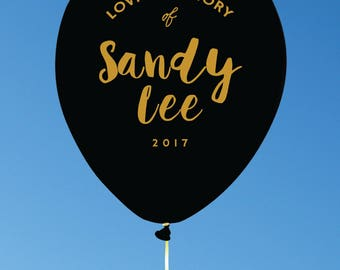 Custom Balloons for Memorial Events