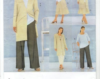 Vogue Five Easy Pieces Jacket, Dress, Top, Skirt and Pants Pattern 2261. Uncut, Factory Folded Sizes 14-16-18 Bust 36-38-40 inches.