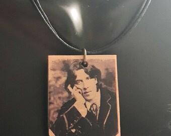 Handmade Oscar Wilde - pendant, from polymerclay
