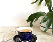 Arabia of Finland Valencia Cup and Saucer Ulla Procope Hand Painted