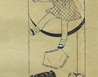 "RARE Anne Adams Instructor Sewing Pattern, 16"" Doll Clothes, 1920's 1930's, Anne Adams 1552"
