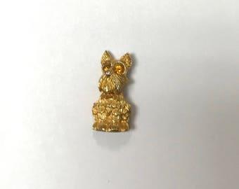 Gold Tone Scottie Pin, Krementz Scottie Pin, Dog Pin, Pin, Vintage Dog Pin, Vintage Scottie Dog Pin by Krementz, Scottie Lover Pin