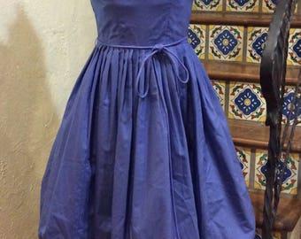 Vintage 1950's Periwinkle Blue Bubble Dress sundress S-M