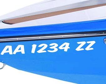 Boat Registration Numbers. Boat Decals.  Vessel Number.  Vinyl Decals.