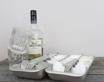 Vintage Ice Trays, Aluminum Ice Trays, Retro Ice Trays, Vintage Cocktails, Retro Kitchen, Hotpoint Ice Cube Trays, Barware, Bar Decor