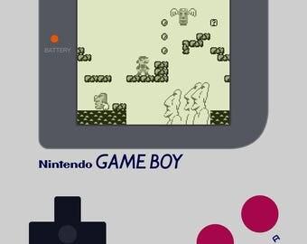 Super Mario Land - Gameboy - Digital Art Print