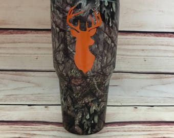 Camo tumbler, camo 30 0z tumbler, deer hunting, Deer tumbler for men, hunting tumbler, camo items , hunting decal, tumbler for guys ,
