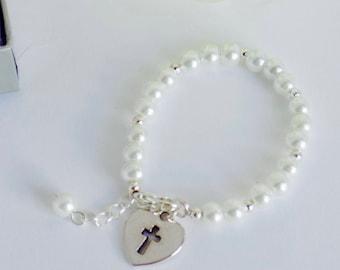 Communion Bracelet, Holy Communion Bracelet, First Communion Gift Girl, First Communion, Girls Communion Bracelet, Girls Communion Gift