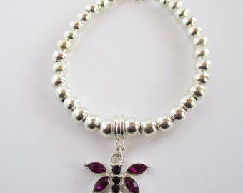 Silver Dragonfly Bracelet, Dragonfly Bracelet, Dragonfly Jewelry, Insect Jewelry. Dragonfly Bracelet Silver, Dragonfly Gift, Insect Bracelet
