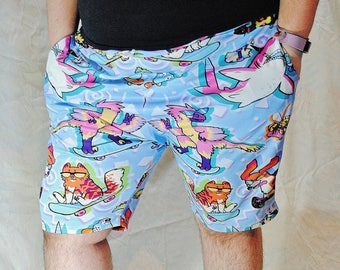 90s Critters Shorts! Stretchy Basketball Shorts with Drawstring and Pockets