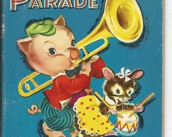 Vintage Tiny Tales 1959 Whitman Animal Parade Children's  Book